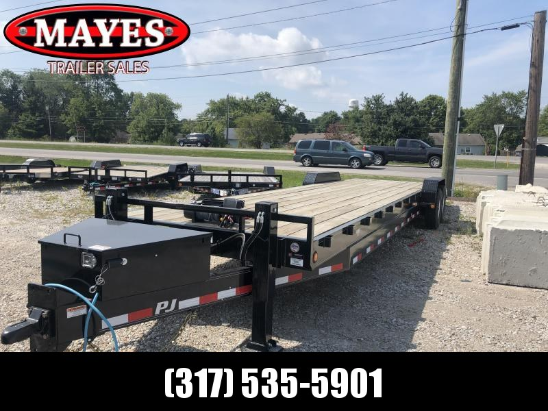 2020 83x32 (28+4) TA PJ Trailers C8322 Equipment Trailer - Slide In Ramps - Oil Bath Axles (GVW:  16000)