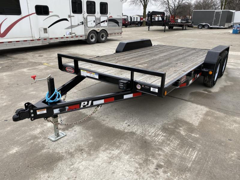 2020 83x16 (14+2) PJ Trailer Mfg. CE162 Car Hauler - Dovetail - Slide In Ramps - 5 Inch Channel Frame (GVW:  9990)