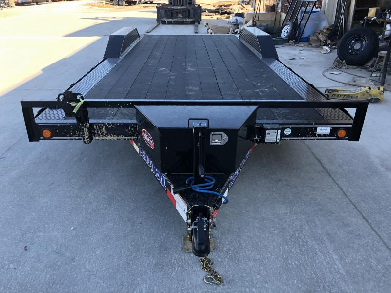 2020 102x20 (18+2) TA Load Trail CH0220052 Car / Racing Trailer - Blackwood Pro Floor - Drive-Over Fenders - Rear Slide In Ramps - Tool Box (GVW:  9990)