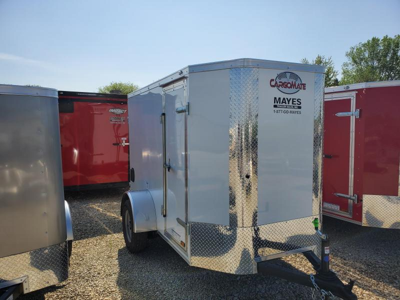 2020 5x8 SA Cargo Mate EHW58SA Enclosed Cargo Trailer - Rear Door - 6 Inch Additional Height - Tapered Nose (GVW:  2990)