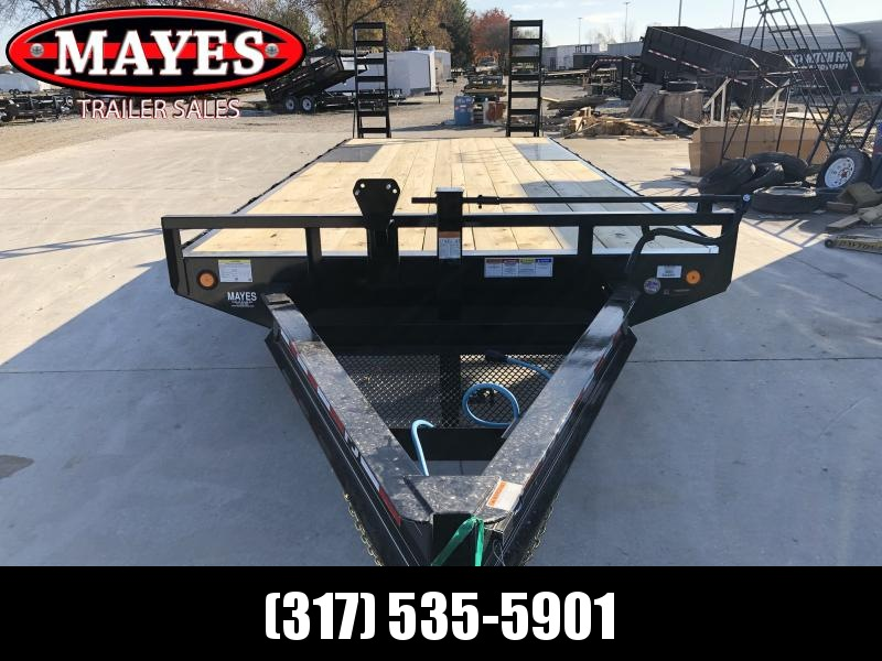 2020 96x22 (19+3) TA PJ Trailers F8222 Equipment Trailer - Dovetail - Fold Up Ramps - Spare Tire MOUNT ONLY (GVW:  14000)
