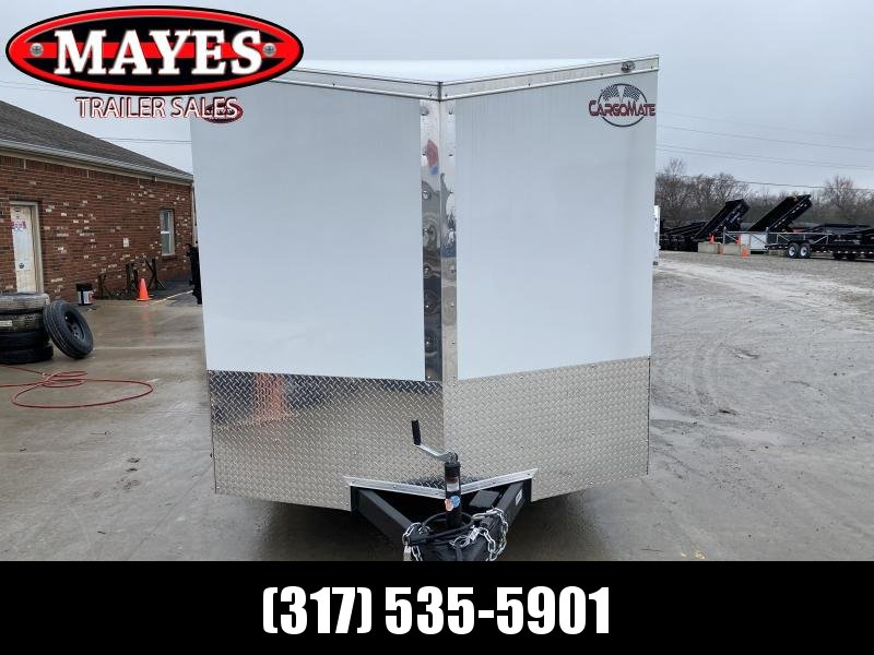 2020 7x14 TA Cargo Mate EHW714TA2 Enclosed Cargo Trailer - Double Door - E/V Series Pkg. #1 - Slant V-Nose (GVW:  7000)