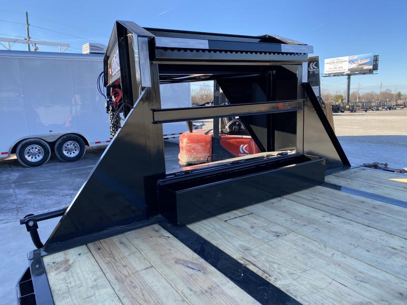 2020 102x32 (27+5) TA Load Trail GP0232122 Gooseneck Equipment Trailer - Self Clean Dovetail - Max Ramps - Tool Box - 2 Inch Rub Rail (GVW:  25900)