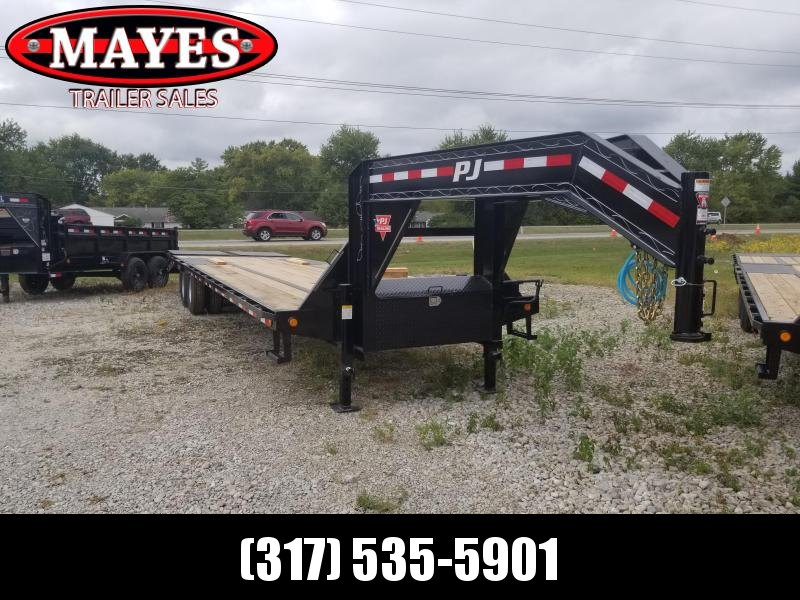 2020 102x32 Foot  PJ Trailers LD322 Equipment Trailer - Tool Box - Dovetail (GVW:  25000)