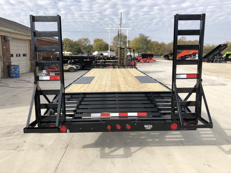 2020 96x24 (21+3) TA Deckover  PJ Trailers F8242 Equipment Trailer - 8 Inch I-Beam - Fold Up Ramps (GVW:  14000)