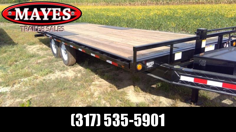 2020 102x22 Foot Full Tilt PJ Trailers T8222 Equipment Trailer = Deckover - Winch Plate (GVW:  14000)
