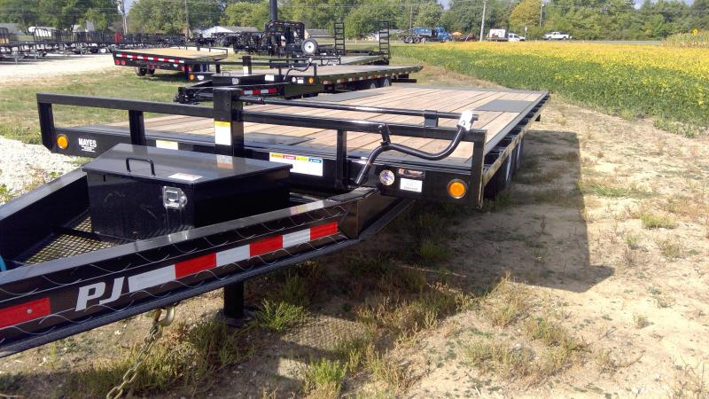 2020 102x22 Foot Full Tilt PJ Trailers T8222 Equipment Trailer = Deckover - Winch Plate (GVW:  14000)