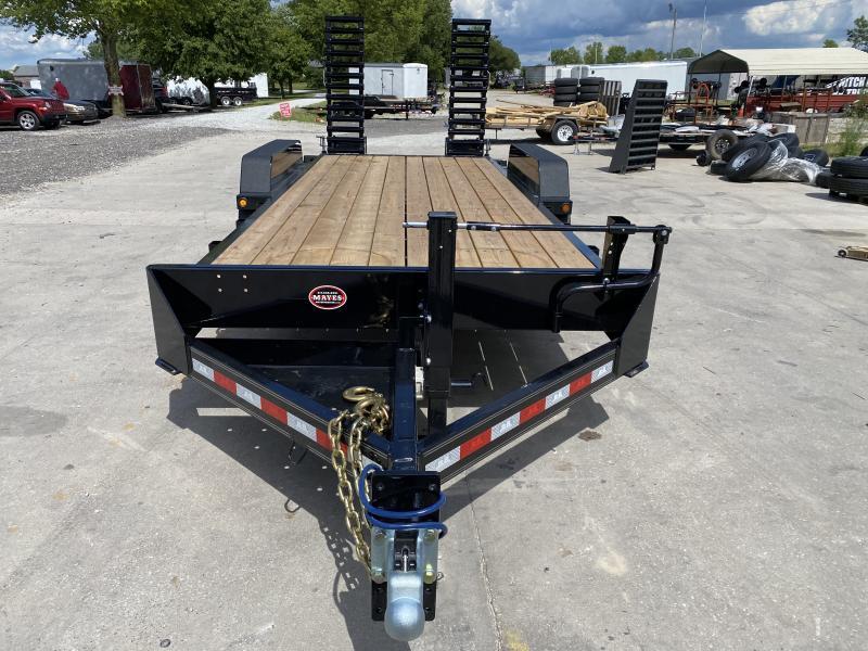 2020 83x20 Foot (18+2) TA B-B CBCT20203-S10K Equipment Trailer - D-Rings - Fender Guides - Flip Up Ramps (GVW:  20000)
