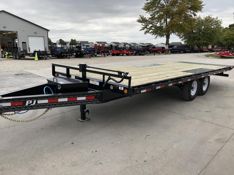 2020 102x22 TA Deckover Tilt PJ Trailers T8222 Equipment Trailer - Full Deck Tilt (GVW:  14000)