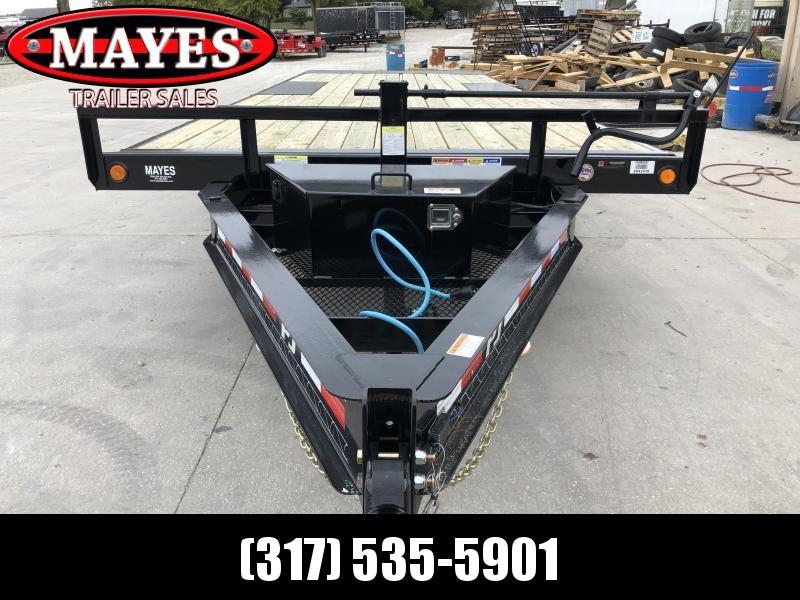 2020 102x22 TA Deckover Tilt PJ Trailers T8222 Equipment Trailer - Full Deck Tilt (GVW:  14000)