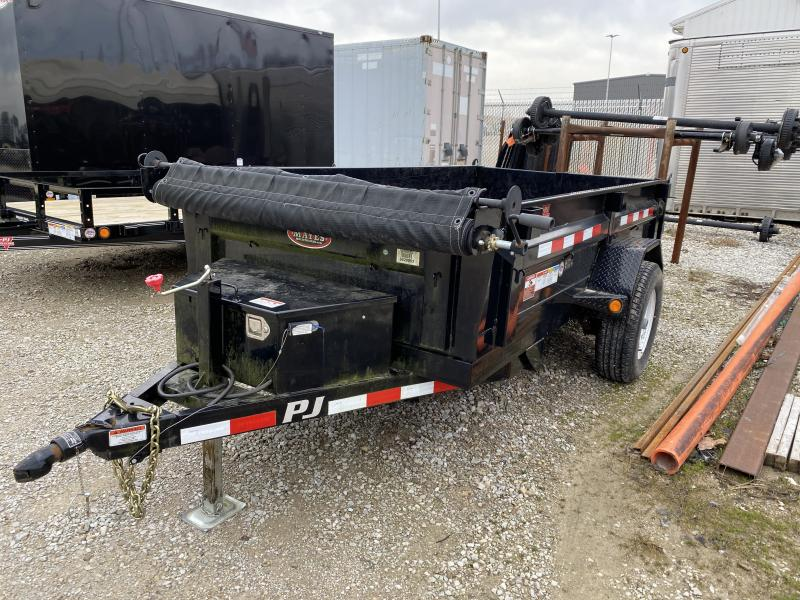 2016 5x10 PJ Trailers USED Dump D5 - (Split Gate)(Tarp Kit)(GVW: 4995)