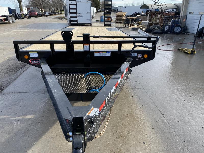 2020 96x22 (19+3) Deckover PJ Trailers F8222 Equipment Trailer - Dovetail - Fold Up Ramps - Spare Tire MOUNT ONLY (GVW:  14000)