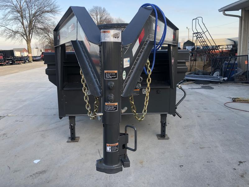 2020 83x14 TA Gooseneck Load Trail GD8314072 Dump Trailer - 3-Way Gate - Rear Slide In Ramps - Scissor Hoist (GVW:  14000) *Max Bed*