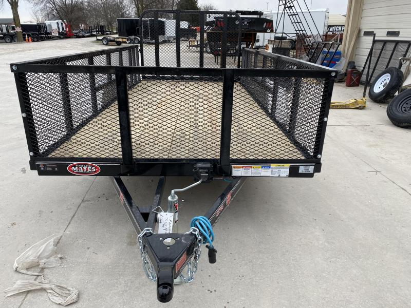 2020 77x14 TA PJ Trailers UK142 Utility Trailer - Straight Deck - 4 Foot Fold-Up Gate - 2 Foot Expanded Metal Sides (GVW:  7000)