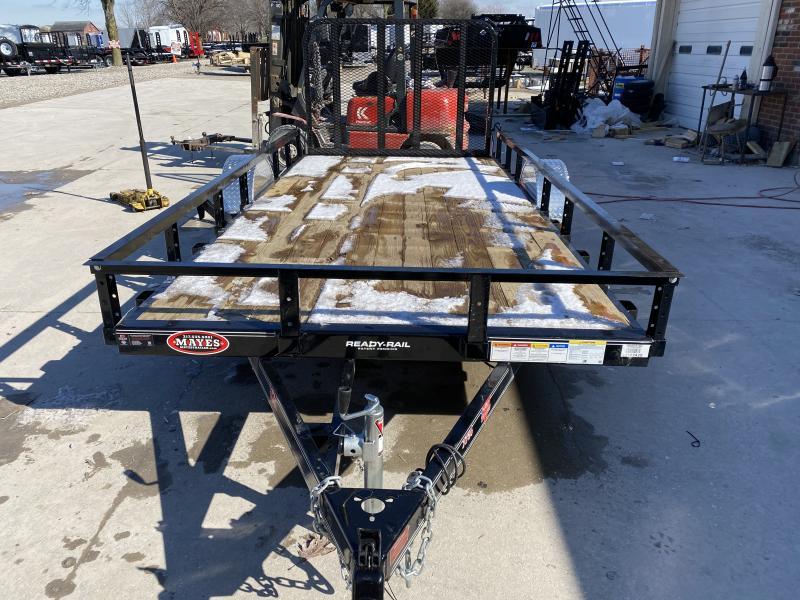 2020 77x14 SA PJ Trailers U7141 Utility Trailer - Treated Wood Floor - Straight Deck - Fold In Gate (GVW:  2995)