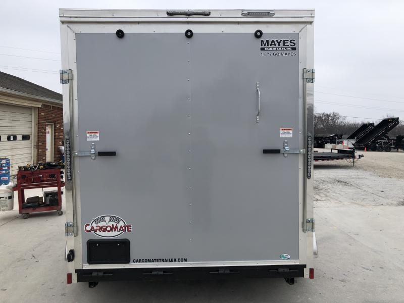 2020 7x12 TA Cargo Mate EHW712TA2 Enclosed Cargo Trailer - Ramp Door - Side By Side Pkg. - .030 Metal Upgrade - Slant V-Nose (GVW:  7000)