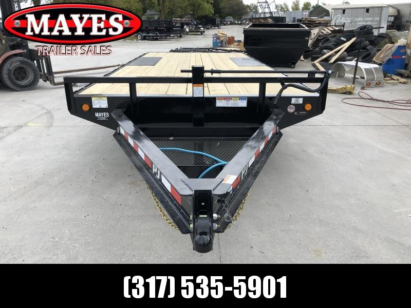2020 96x18 TA Deckover PJ Trailers F8182 Equipment Trailer - 8 Inch I-Beam - Straight Deck - 6 Foot 6 Inch Slide In Ramps (GVW:  14000)