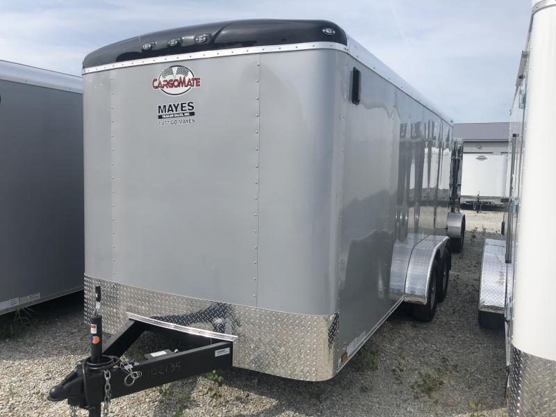 2020 7x16 TA Cargo Mate BL716TA2 Enclosed Cargo Trailer - Double Door with Dual Cambars - Torsion Axle (GVW:  7000)