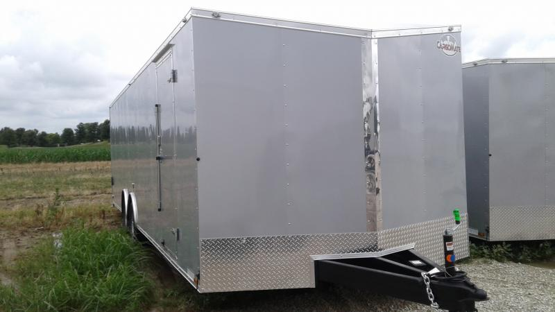 2020 8.5x28 TA Cargo Mate EHW8.528TA3 Enclosed Cargo Trailer - Ramp Door - Slant V-Nose (GVW:  9800)