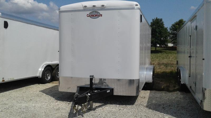 2020 7x16 TA Cargo Mate BL716TA3 Enclosed Cargo Trailer - Ramp Door - E-Track Backer Plate - 6 Inch Additional Height (GVW:  9800)