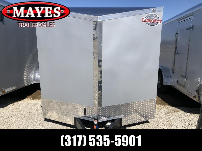 2021 7x18 TA Cargo Mate EHW718TA2 Enclosed Cargo Trailer - Ramp Door - .030 Metal Upgrade - Slant V-Nose (GVW:  7000)