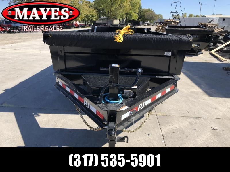 2020 83x14 TA Low Pro PJ Trailers DL142 Dump Trailer - Split/Spread Gate - Tarp Kit - Spare Tire MOUNT ONLY (GVW:  14000)