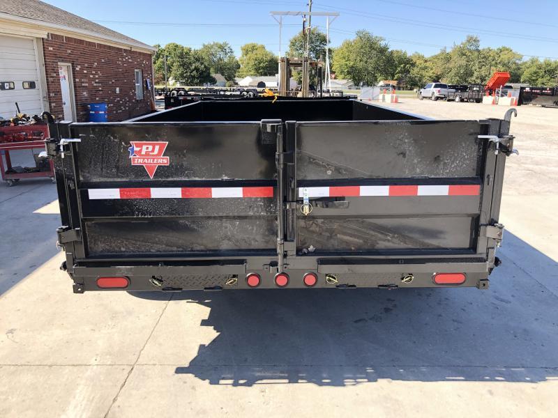2020 83x14 TA Low Pro PJ Trailers DL142 Dump Trailer - Split/Spread Gate - Tarp Kit - Spare Tire MOUNT ONLY (GVW:  14000)