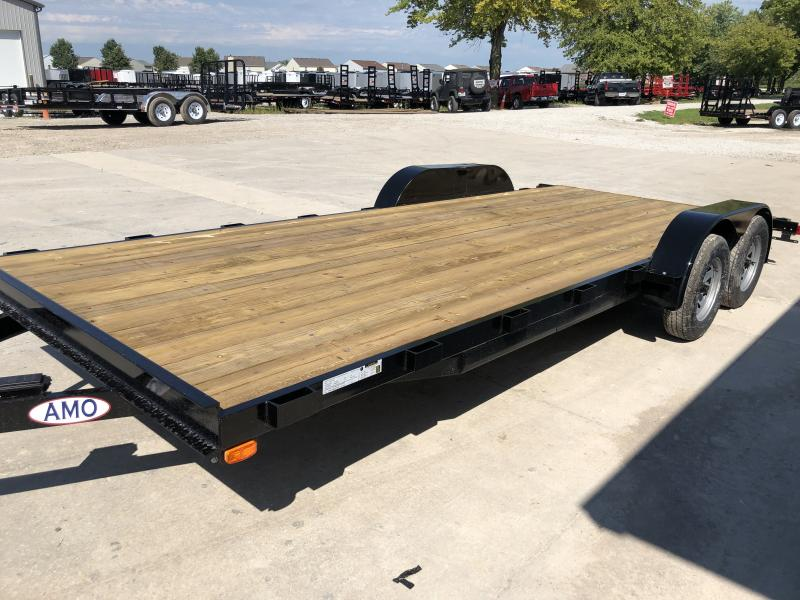 2020 82x20 (18+2) TA American Manufacturing Operations (AMO) UT202 Utility Trailer - Rear Slide In Ramps (GVW:  7000)