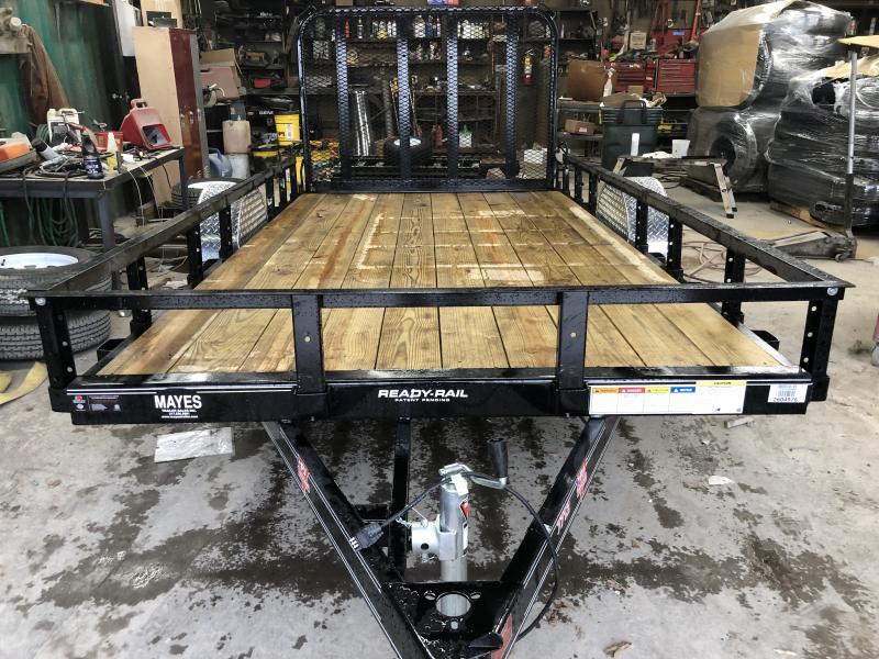 2020 77x12 SA PJ Trailers U7121 Utility Trailer - Straight Deck - Fold In Gate (GVW:  2995)