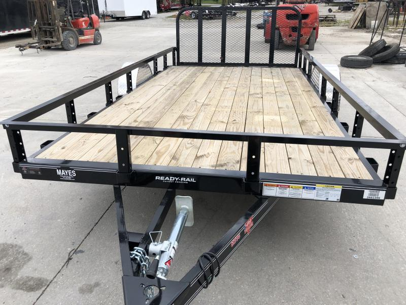 2020 83x14 (12+2) SA PJ Trailers U8141 Utility Trailer - Dovetail - 3 Foot Fold Up Gate (GVW:  2995)