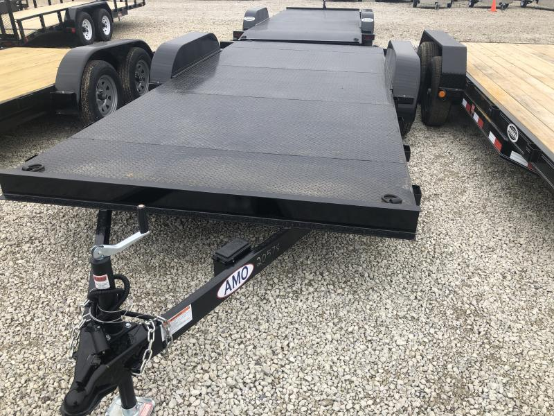 2020 82x18 American Manufacturing Operations AFD18BB Car / Racing Trailer - w/ 5' Slide-in Ramps (GVW: 7000) *Steel Floor*