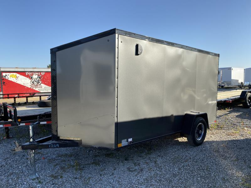 Used 2019 6x12 SA Impact Trailers ITT612SA Enclosed Cargo Trailer - Ramp Door - Side Door (GVW:  2990)