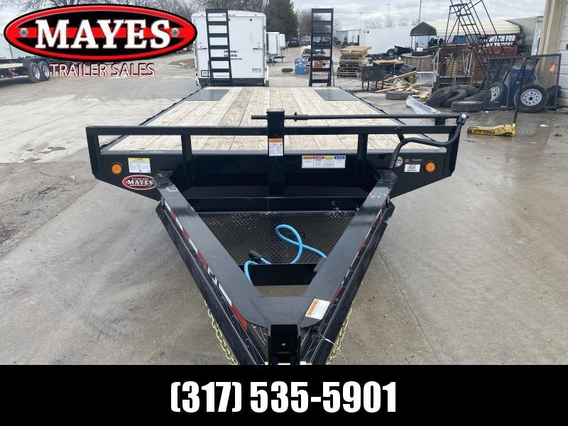 2020 96x20 (17+3) TA Deckover PJ Trailers F8202 Equipment Trailer - 8 Inch I-Beam - Dovetail - 16x60 Fold Up Ramps (GVW:  14000)