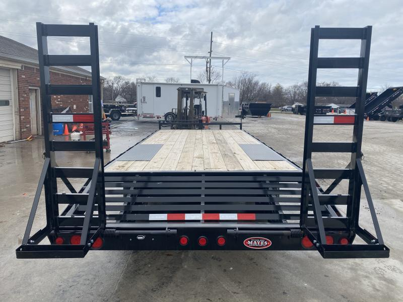 2020 96x20 (17+3) TA Deckover PJ Trailers F8202 Equipment Trailer - 8 Inch I-Beam - Dovetail - 16x60 Fold Up Ramps (GVW:  14000)