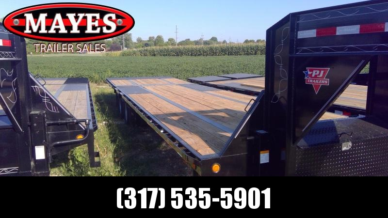 2020 102x32 ( 22'x10' )Foot PJ Trailers LY322 Equipment Trailer - Tool Box - Gooseneck - Hydraulic Dove (GVW:  25000)