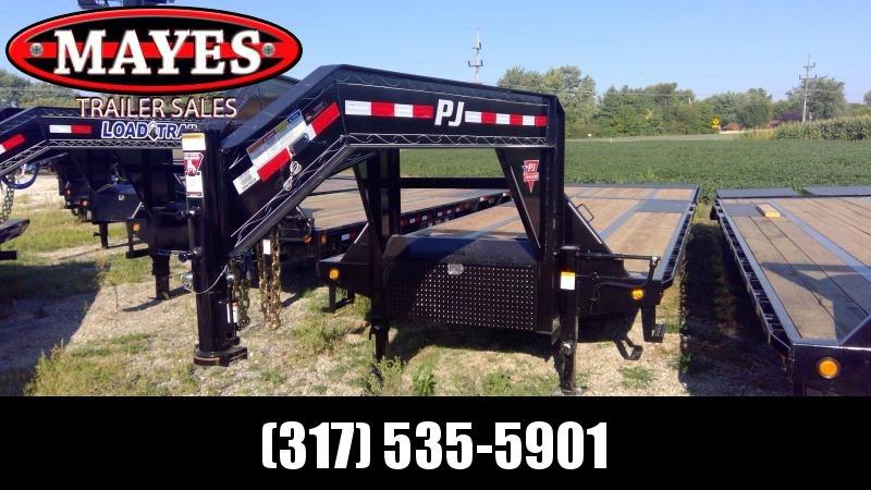 2020 102x32 ( 22'x10' )Foot PJ Trailers LY322 Equipment Trailer - Tool Box - Gooseneck - Hydraulic Dove (GVW:  25000)