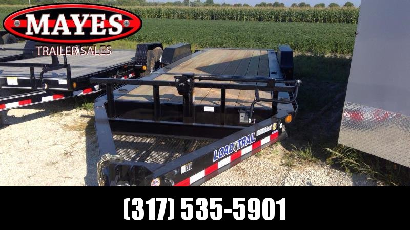 2019 83x22 (6+16) Tilt-N-Go Load Trail TH8322072 Equipment Trailer - D-Rings - Tool Tray - 2 Inch Rub Rail (GVW:  14000)