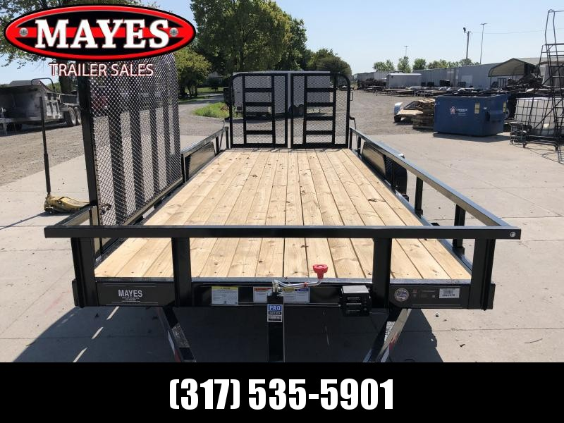 2020 83x20  (18+2) TA PJ Trailers CE202 Car / Racing Trailer - Split HD Gate - 2x2 Square Tube Removable Siderails - 83 Inch Side Gate on Pass Side  (GVW:  9899)