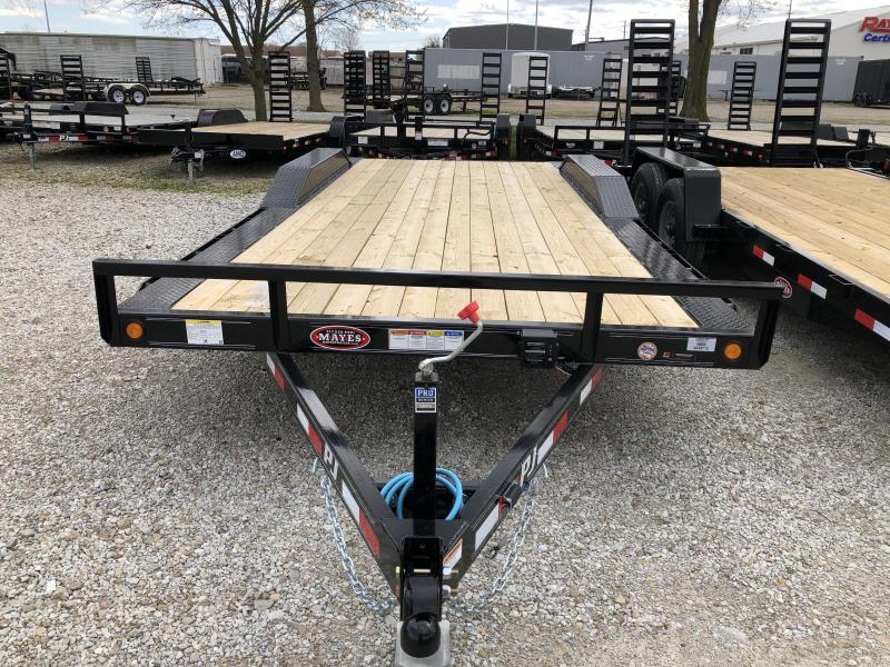 2020 102x20 (18+2) TA PJ Buggy Hauler Trailer B202 - Dovetail - Rear Slide In Ramps