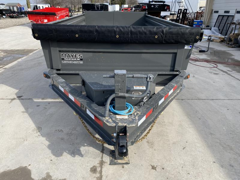 2020 83x14 TA PJ Trailers Dump Trailer DL142 - Split/Spread Gate - Tarp Kit - Spare Tire MOUNT ONLY (GVW:  14000)