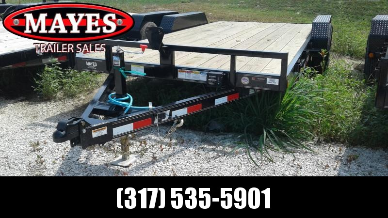 2020 83x18 (16+2) TA PJ Trailers CE182 Equipment Trailer - Slide In Ramps - Spare Tire MOUNT ONLY (GVW:  9899)