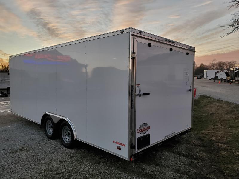 2020 8x5.20 TA Cargo Mate EHW8.520TA2 Enclosed Cargo Trailer - Ramp Door - Sloped Roof (GVW:  7000)