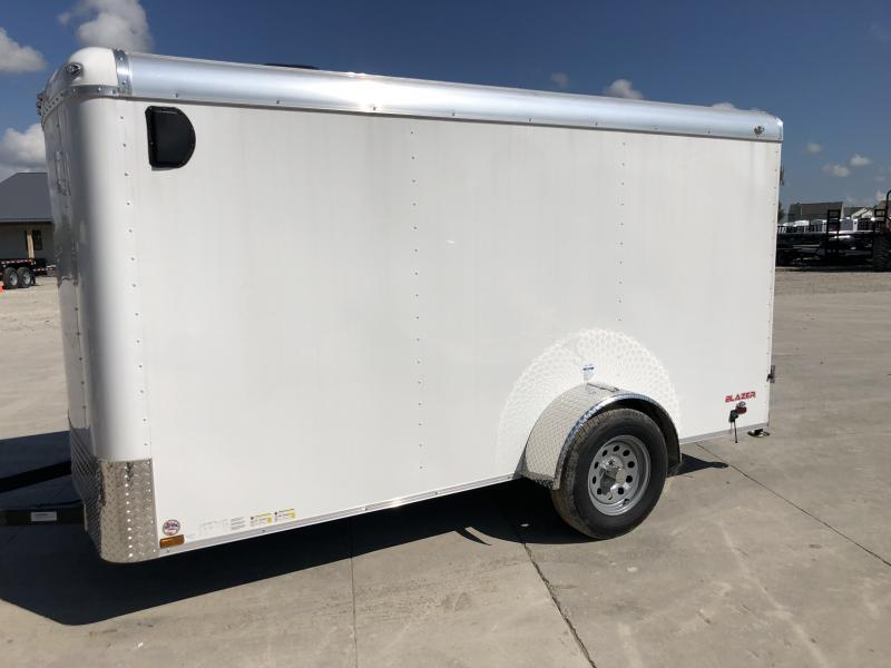 2020 6x12 SA Cargo Mate BL612SA Enclosed Cargo Trailer - Double Door with Dual Cambars (GVW:  2990)