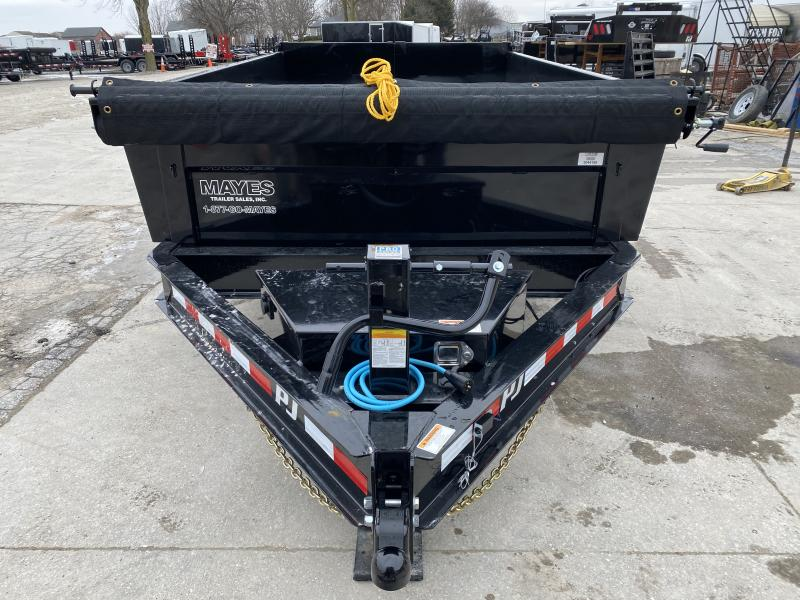 2020 83x12 TA Low Pro PJ Trailers DL122 Dump Trailer - Split/Spread Gate - Upgrade to 10K Jck - Spare Tire MOUNT ONLY - Tarp Kit (GVW:  14000)
