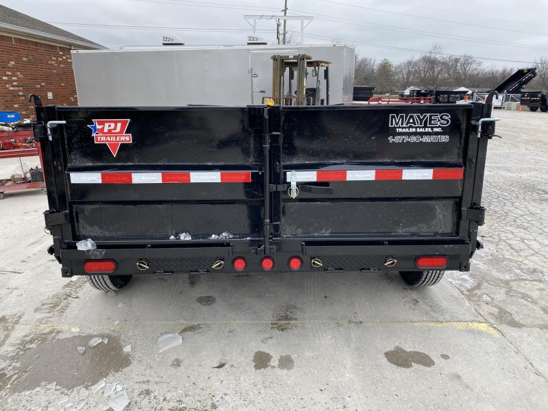 2020 83x12 TA Low Pro PJ Trailers DL122 Dump Trailer - Split/Spread Gate - Upgrade to 10K Jck - Spare Tire MOUNT ONLY - Tarp Kit (GVW:  14000)