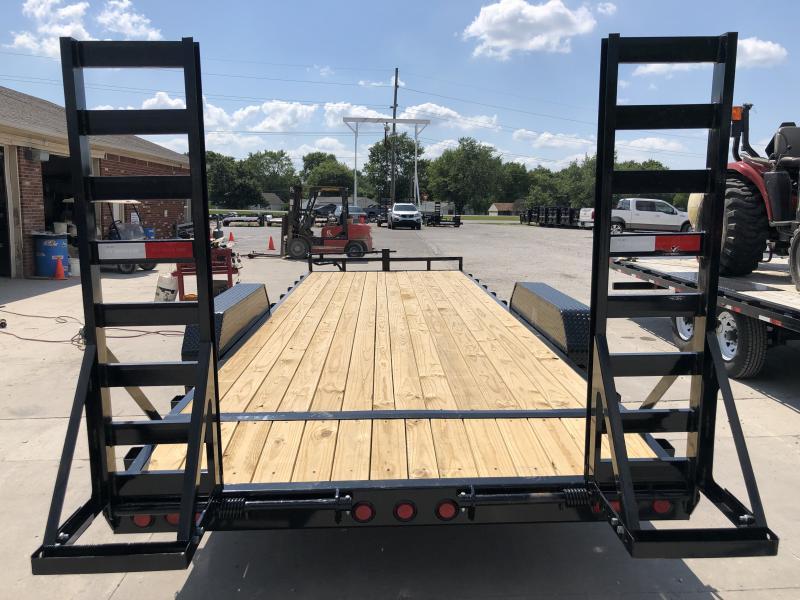 2020 83x22 Foot (20+2) TA PJ Trailers CC222 Equipment Trailer - Fold Up Ramps (GVW:  14000)