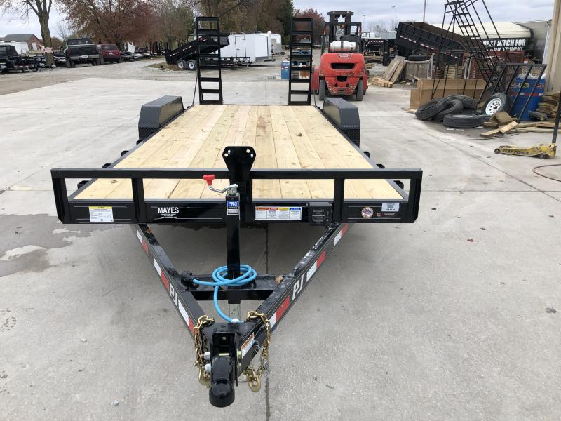 2020 83x20 (18+2) TA CE202 PJ Trailer - 5 Inch Channel Frame - Dovetail - Fold Up Ramps - Spare Tire MOUNT ONLY (GVW:  9899)