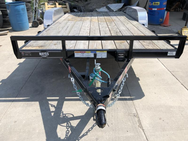 2019 83x16(14+2' Dovetail) C4 Car Hauler PJ Trailers  - w/ 5' Slide-in Ramps (GVW: 7000)