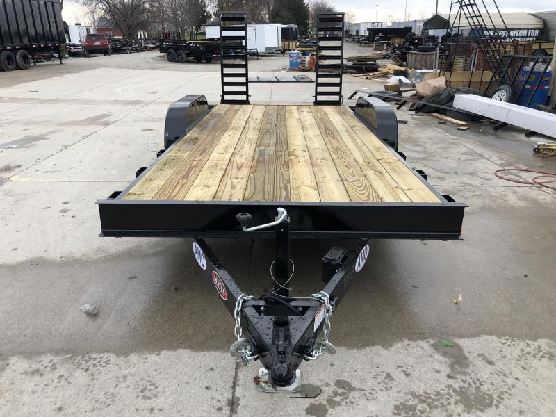 2020 82x18 TA AMO UC182 Flatbed Trailer - Straight Deck - Treated Wood Floor - Stand-Up Ramps (GVW:  9990)