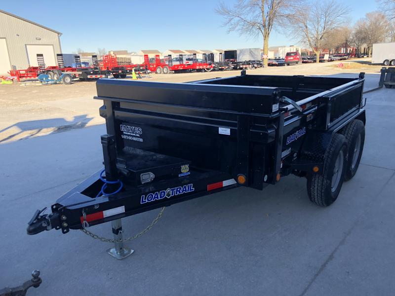 2020 72x10 TA Load Trail DT7210052 Dump Trailer - 3-Way Gate - Side Mount Ramps - Scissor Hoist - Tool Box (GVW:  9990)